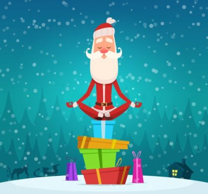 fêtes, offre, noël, cadeaux, hiver, neige, méditation, relaxation